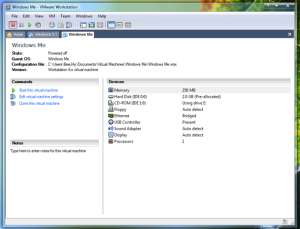Here is the Virtual Machine I will be using