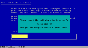 DOS wants the next disk