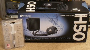 Boxed Arctic Cooling MX-3 and Corsair H50