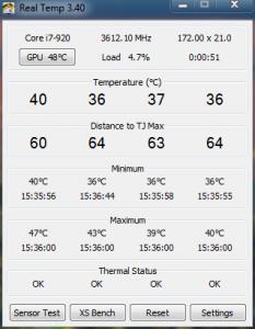 Core Temps @ 3.6Ghz 1.2v Idle