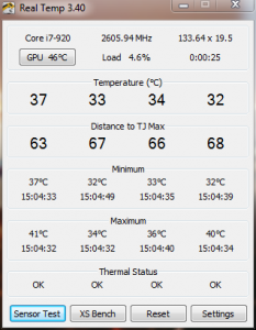 Core idle temp with H50