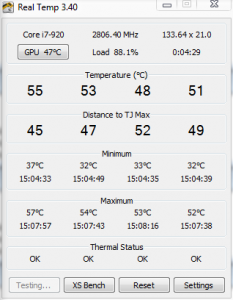Core load temp with H50