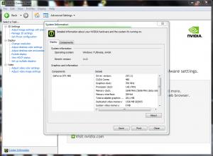 Asus ENGTX480 Nvidia System Info